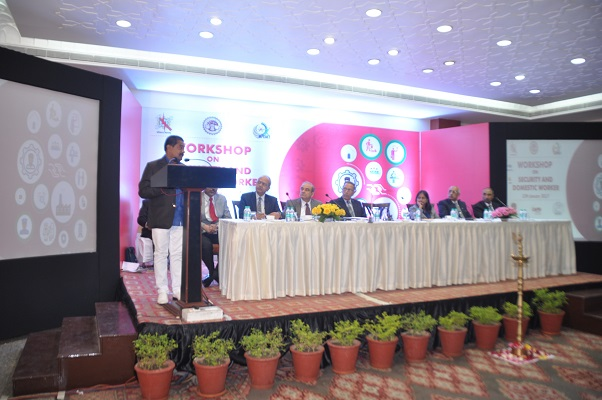 Hon'ble Minister Shri Deepak Joshi addressing the Workshop